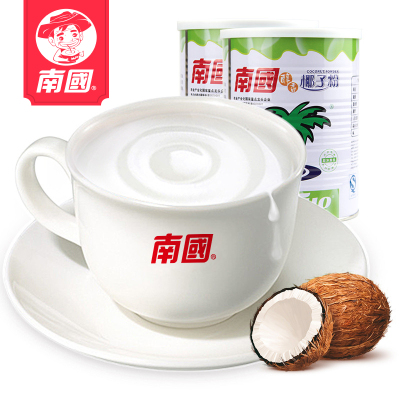 【2件8折_醇香椰子粉450gx2罐】 南国食品 海南特产   南国椰子粉营养早餐