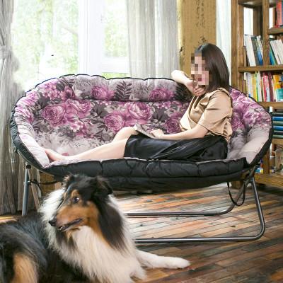 蒹葭懒人沙双人榻榻米简约休闲卧室客厅小户型单人折叠布艺小沙床