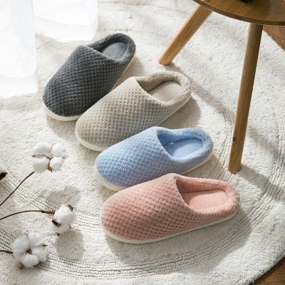 Home Story 菠萝绒冬季速暖家居情侣款拖鞋