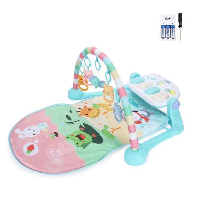 貝恩施嬰兒腳踏琴鋼琴健身架器新生兒寶寶音樂兒童玩具0-1歲3個月 pastoerl動物園【套餐一】