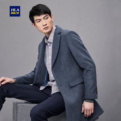HLA海澜之家羊毛混纺大衣时尚有型长款外套男HWDAD4E025A