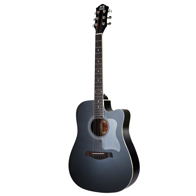 莫森mosen吉他41英寸初學者入門民謠木吉它樂器 升級款 莫森DC41BKM啞光酷黑色