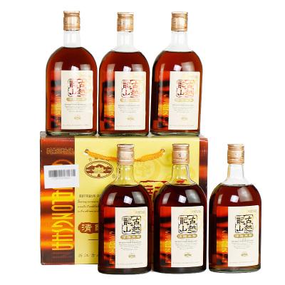 古越龍山 紹興黃酒 花雕酒 糯米酒加飯酒 清醇三年 500ml*6瓶整箱裝 送禮佳品