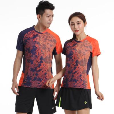 19新品薰風羽毛球服男女款短袖訓練比賽服上衣夏運動服套裝