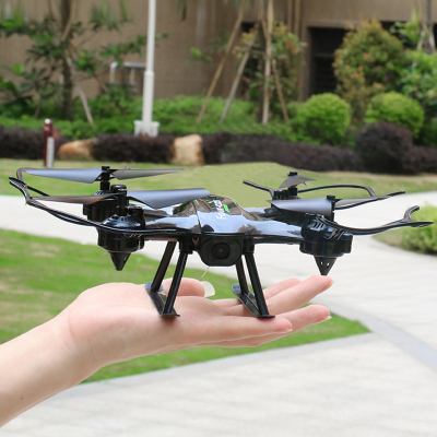 Dwi 兒童無人機無線遙控飛機可充電大型耐摔無人機航模四軸飛行器模型超長續航玩具男孩 定高-炫酷黑-便攜包-4電池贈多充