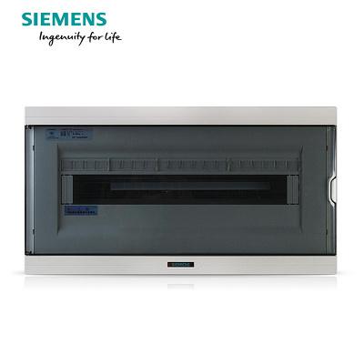 西门子(SIEMENS)20回路强电布线箱 空气开关箱配电箱透明色