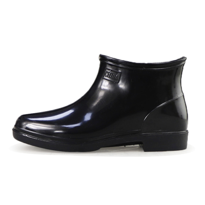 雙星雨鞋男士低幫男雨靴水鞋黑色防水靴套鞋白色元寶口廚師鞋防滑DS1159