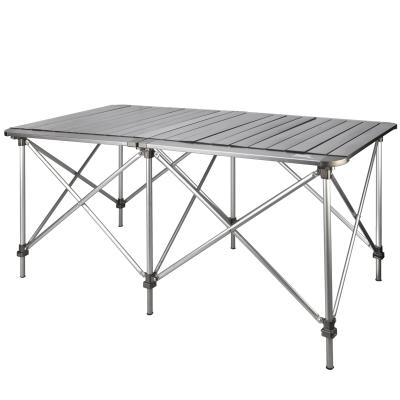 兄弟BRS-Z32可升降折疊雙桌便攜鋁合金桌子野餐桌自駕游裝備桌椅
