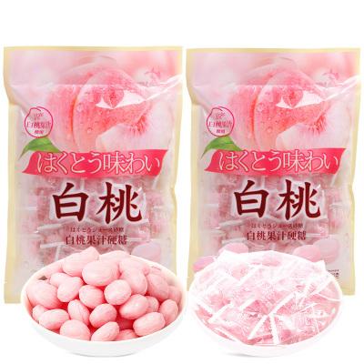 白桃果汁硬糖2包水蜜桃味檸檬味 糖結婚喜糖零食糖果