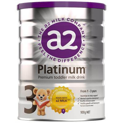 澳洲a2 Platinum 白金版 幼儿配方奶粉3段 (1-3岁)900g/罐 新西兰原装进口