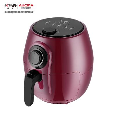 澳柯瑪(AUCMA)空氣炸鍋AKZ-26M10紅黑款 無油煎炸 健康烹飪 多功能大容量電炸鍋電飯鍋