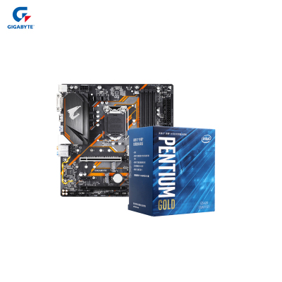 """技嘉B365M ELITE AORUS """"小雕"""" 電競主板 +英特爾G5420 奔騰雙核 盒裝CPU處理器"""