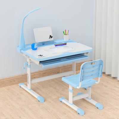 禧漫屋 迪士尼兒童學習書桌男孩作業臺可升降小學生女孩寫字桌椅套裝