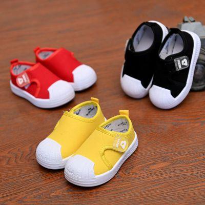 搭啵兔春秋儿童帆布鞋男童女宝宝球鞋板鞋小童单鞋鞋子1-3岁5懒人一脚蹬