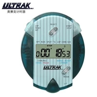 奧賽克ULTRAK秒表DT3A計時器 單排計時器 節拍器防水耐用田徑運動健身游泳跑步滑冰騎行鬧鐘