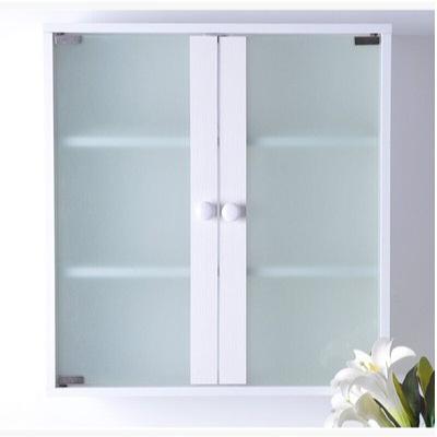 浴室吊柜衛生間水墻壁掛柜廚房壁櫥柜客廳陽臺儲物收納置物柜子 雙磨砂玻璃(PVC封邊) 組裝