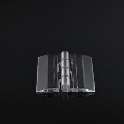亞克力透明合頁鉸鏈柜門活頁pc合葉有機玻璃折頁加工打孔 長30*寬34mm