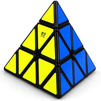 奇艺金字塔三角形三阶启明A比赛顺滑儿童学生初学异形奇艺启明A三阶黑