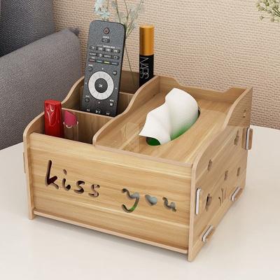 多功能抽紙盒家用客廳茶幾紙巾盒簡約遙控器收納盒