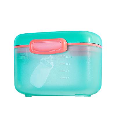 小白熊便攜式奶粉盒多功能奶粉儲存盒寶寶零食盒mini青蘋綠08376(曬圖評價滿10字返15元優惠券)