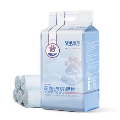 伊薩陪伴歲月狗狗尿墊寵物用品尿片狗尿布泰迪尿不濕吸水墊加厚貓狗100片
