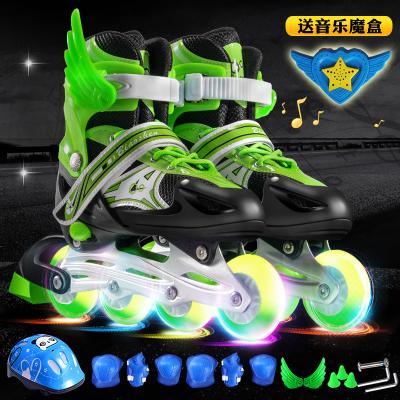 溜冰鞋兒童全套裝男女旱冰鞋輪滑鞋直排輪3-4-5-6-8-10-12歲初學