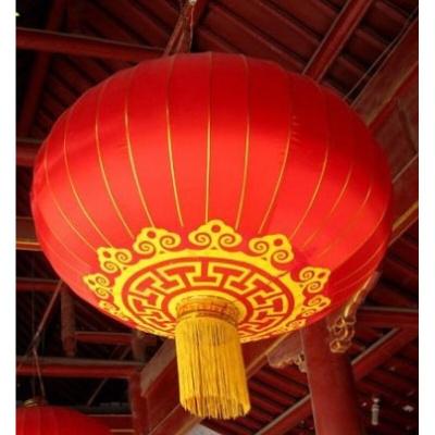 灯笼 户外阳台大红灯笼 铁口广告结婚庆灯笼节日灯笼绸布 植绒户外防水05