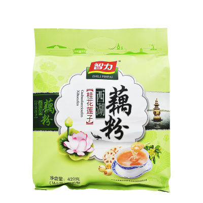 智力 桂花蓮子西湖藕粉420g蓮藕粉羹代餐粉(內含14小袋)