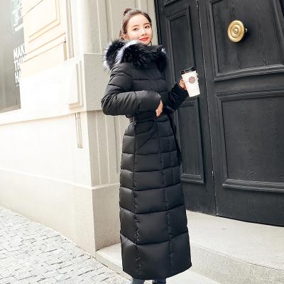 2019新款韩版修身长款棉衣女长过膝反季棉服显瘦冬季加厚棉袄外套