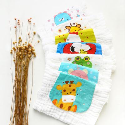 【8條裝】嬰兒吸汗巾幼兒園寶寶全棉隔汗巾兒童墊背巾純棉紗布