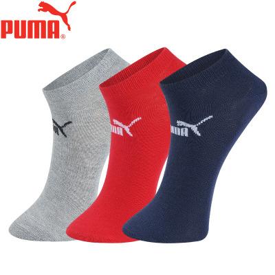 PUMA彪马袜子男士薄款运动船袜3双装