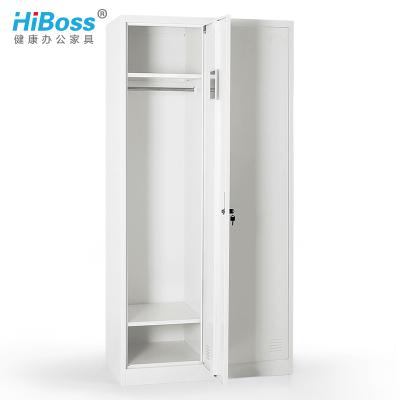 HiBoss钢制更衣柜2门衣柜员工宿舍衣柜
