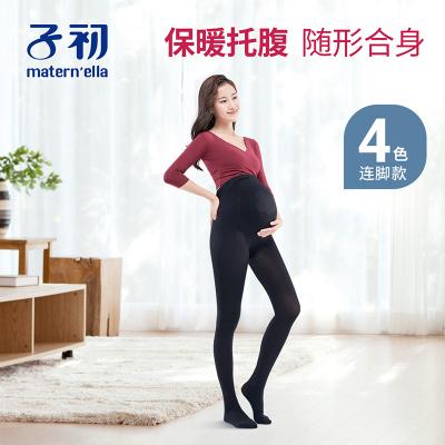 子初 320D孕婦托腹絲襪連腳款打底褲絲襪女春秋季連體打底褲襪