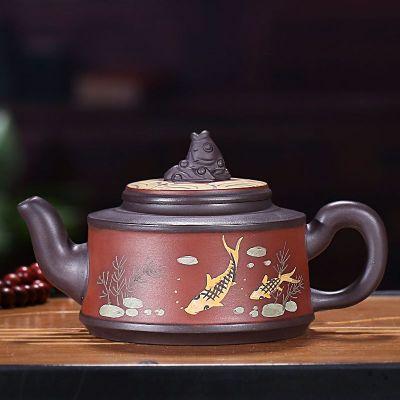 金玉滿堂壺紫砂壺宜興原礦紫泥茶壺純全手工容量190毫升泡沏茶器