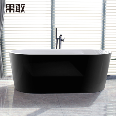 果敢欧式浴盆亚克力薄边深保温浴缸1.2 1.3 1.4 1.5 1.6 1.7米045
