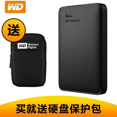 西部數據(WD)2TB USB3.0 移動硬盤2T Elements新元素系列 2.5英寸 WDBUZG0020BBK