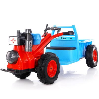bdq-兒童手扶拖拉機電動玩具車可坐人帶斗小孩男女寶寶汽車大號四輪電瓶車奇客童車