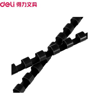 得力(deli)3834 8mm裝訂膠圈黑色100支/盒適用21孔梳式裝訂機膠圈裝訂膠環圓形裝訂夾條裝訂管裝訂耗材裝訂機