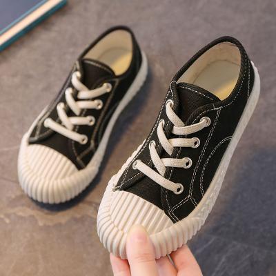 兒童帆布鞋2020春秋款女童布鞋透氣休閑鞋男童一腳蹬百搭小白鞋子纖婗(QIANNI)