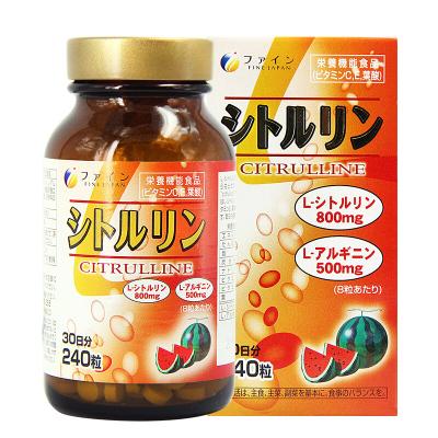 FINE 日本精氨酸瓜氨酸精華顆粒240粒 /瓶裝 60