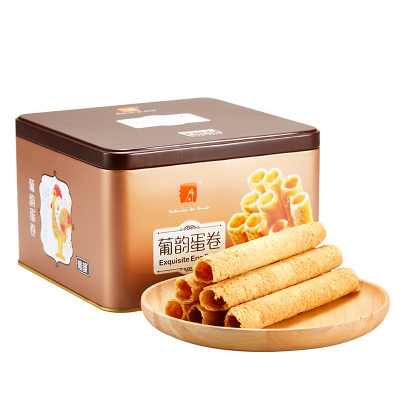 澳门葡韵原味鸡蛋卷铁罐装400g广东特产小吃休闲零食饼干传统糕点