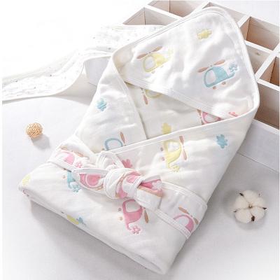 瑞拉貝祺 嬰兒抱被新生兒包被春秋純棉蓋毯抱毯寶寶襁褓春夏季紗布包巾被子