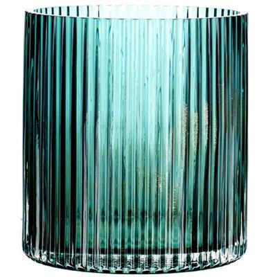 朗峰手作 金沙彩色玻璃花瓶 歐式花插餐桌花器干花百合裝飾玻璃瓶【定制】 160大號綠金沙(金沙夾雜氣泡)金沙工藝有氣泡