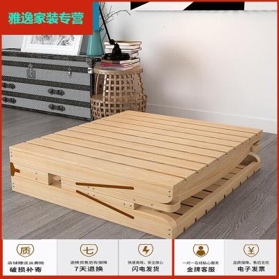 蘇寧好貨便攜單人床不搖晃簡易床宿舍木質1.5經濟型折疊木床雅逸新款