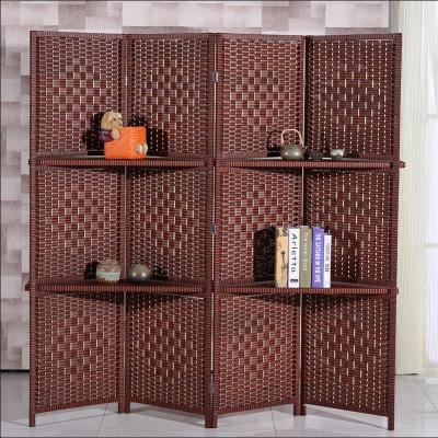 京好 现代中式屏风 实木可置物折叠办公室隔断墙美容院遮挡 客厅卧室简约环保门帘架H141