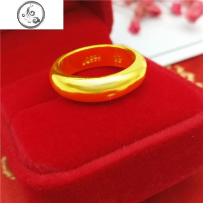 越南沙金戒指男戒子钢印9999经典款情侣男士女款闭口不色泰国。   JiMi