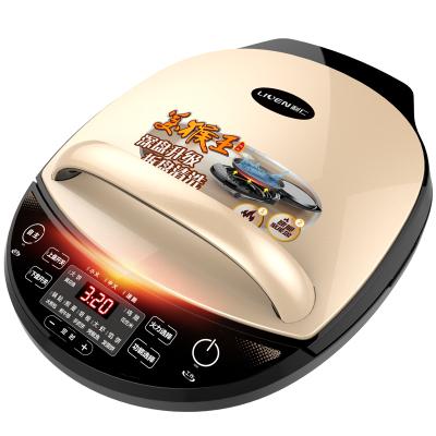 利仁(Liven)电饼铛家用双面加热可拆洗煎饼烙饼锅煎烤机25MM加深烤盘LR-D3020S(升级版美猴王)
