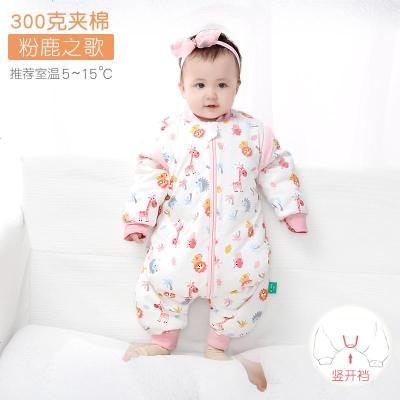 婴儿睡袋春秋冬加厚儿童薄款幼儿防踢被分腿宝宝睡衣四季通用