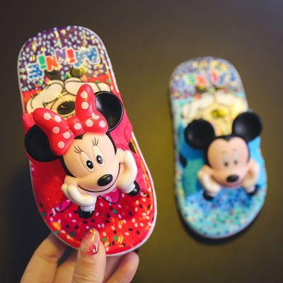 依藍圣雪新款兒童拖鞋夏女童涼拖家用室內防滑托鞋女公主男童小孩米奇軟底