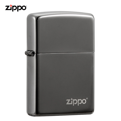 zippo打火机正版原装进口男士打火机黑冰商标150ZL